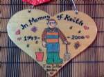 In Memory Of Dad, Grandad, Uncle, Brother Any Name Personalised Wooden Heart Memorial Garden Grave Wall Sign Father's Day
